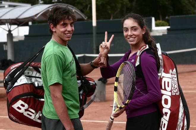 Bernardo y Marie Elise Casares. Imagen del 2010, cuando su única pasión era el tenis. Foto: Tomada de El Comercio.
