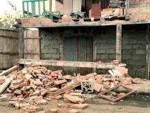 Esta casa tendrá que ser demolida en pocos días.