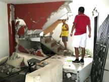 Así quedó la planta baja de la casa de Enrique.